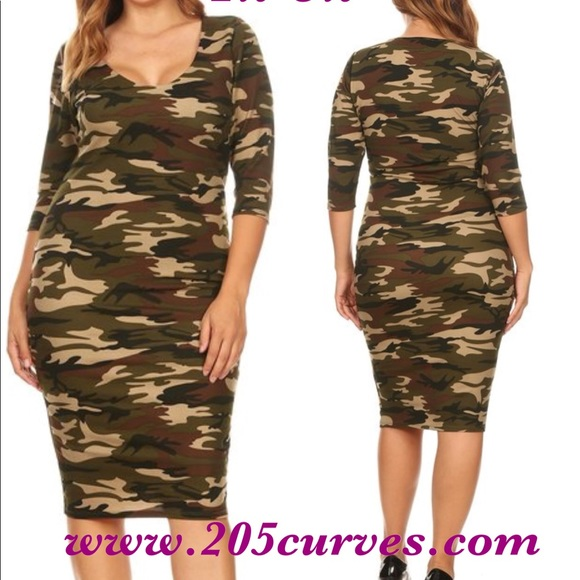 Plus size fatigue dress